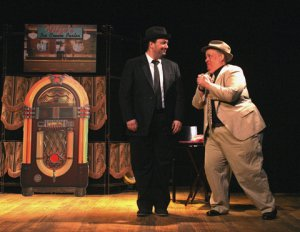 "Patrick John Moran as Hubie and Daniel Marcus as Fitzo in a scene from ""Do Re Mi"" (Photo credit: Michael Portantiere)"