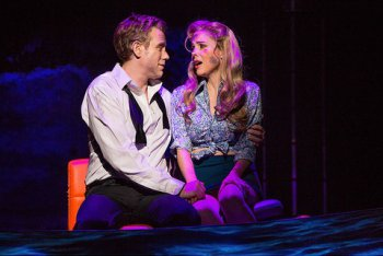 """Adam Pascal and Kerry Butler in a scene from """"Disaster!"""" (Photo credit: Jeremy Daniel Photography)"""