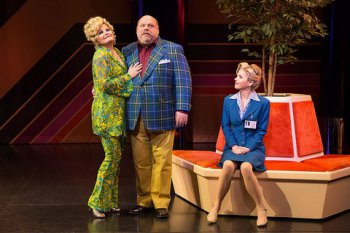 """Faith Prince, Kevin Chamberlain and Kerry Butler in a scene from """"Disaster!"""" (Photo credit: Jeremy Daniel Photography)"""