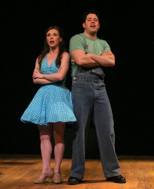 """Lilly Tobin and Casey Shine in Musicals Tonight!'s revival of Rodgers and Hart's """"Babes in Arms"""" (Photo credit: Michael Portantiere)"""