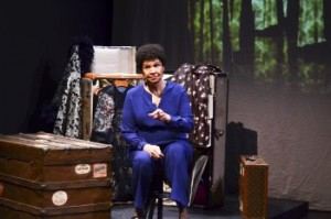 """Trezana Beverley in a scene from """"Mabel Madness: The Life of Mabel Mercer""""(Photo credit: Tanja Hayes Photos)"""