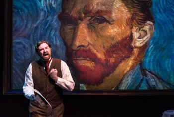 """James Briggs in a scene from Leonard Nimoy's """"Vincent"""" (Photo credit: Russ Rowland)"""