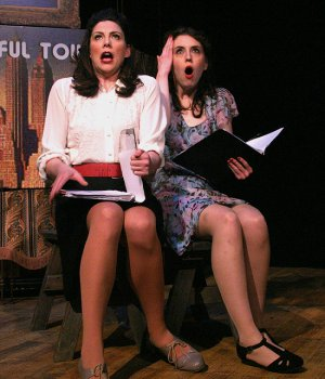 """Elizabeth Broadhurst as Ruth and Savannah Frazier as Eileen in a scene from """"Wonderful Town"""" (Photo credit: Michael Portantiere)"""