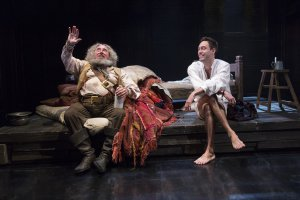 Sir Anthony Sher as Falstaff and Alex Hassell as Prince Hal in a scene from the RSC's Henry IV, Part I (Photo credit: Richard Termine)
