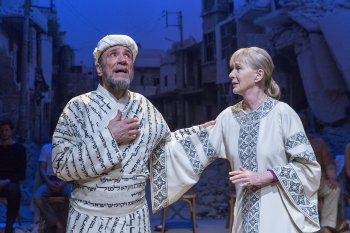 """F. Murray Abraham and Caroline Lagerfelt in a scene from """"Nathan the Wise"""" (Photo credit: Richard Termine)"""
