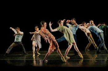 "Ballet Hispanico in a scene fromGustavo Ramírez Sansano's ""Flabbergast"" (Photo credit: Paula Lobo)"