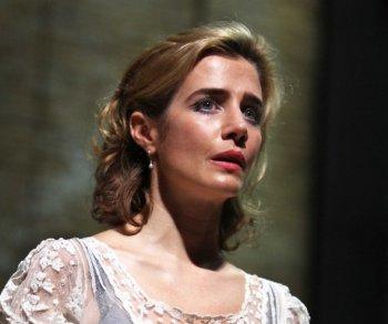 "Lisa Dwan in a scene from Beckett's ""Footfalls"" (Photo credit: John Haynes)"