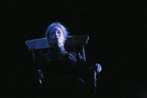 "Lisa Dwan in a scene from Beckett's ""Rockaby"" (Photo credit: John Haynes)"