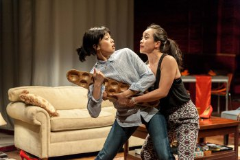 "Tiffany Villarin and Tina Chilip in a scene from ""House Rules"" (Photo credit: Web Begole)"
