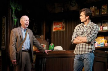 """Jonathan Hogan and Timothy Olyphant in a scene from """"Hold On to Me Darling"""" (Photo credit: Doug Hamilton)"""