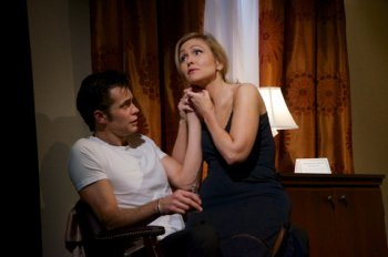 """Timothy Olyphant and Jenn Lyon in a scene from """"Hold On to Me Darling"""" (Photo credit: Doug Hamilton)"""