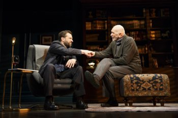 "Brian Avers and Frank Langella in a scene from Florian Zeller's ""The Father"" (Photo credit: Joan Marcus)"