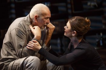 "Frank Langella and Kathryn Erbe in a scene from Florian Zeller's ""The Father"" (Photo credit: Joan Marcus)"