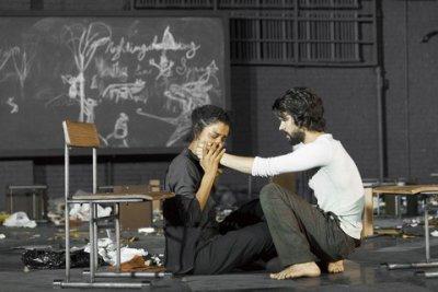 "Sophie Okonedo and Ben Whishaw in a scene from ""The Crucible"" (Photo credit: Jan Versweyveld)"
