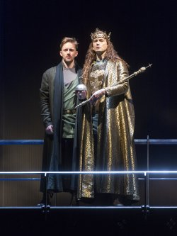 "Sam Marks as the Duke of Aumerle and David Tennant as King Richard II in a scene from Royal Shakespeare Company's ""Richard II"" (Photo credit: Richard Termine)"