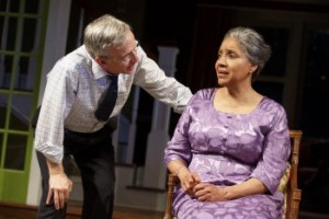 "Robert Joy and Phylicia Rashad in a scene from ""Head of Passes"" (Photo credit: Joan Marcus)"