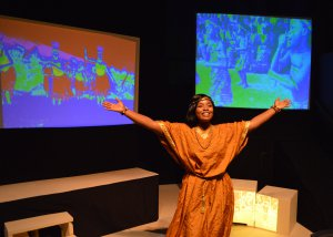 "Jennifer Owusu as Saliya in a scene from ""The Imaginative Space of the African Horizon"" (Photo credit: Rick Pulos)"