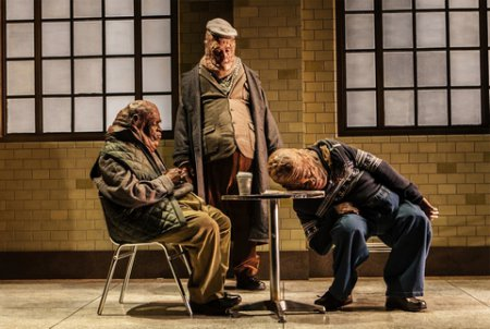 """Sahr Ngaujah, Frank Wood and Mikéah Ernest Jennings in a scene from María Irene Fornés' """"Drowning"""" (Photo credit: Monique Carboni)"""