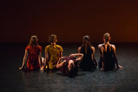 "A scene from Ariel Rivka Dance in ""Hallelujah Eva"" (Photo credit: David Gonsier)"