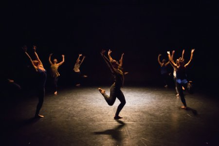 "A scene from Ariel Rivka Dance in ""Variations on a Box"" (Photo credit: David Gonsier)"