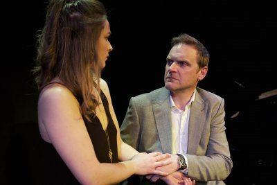 "Phoebe Sparrow and Matthew Flynn in a scene from ""Pearl,"" in ""City Stories"" (Photo credit: James Phillips)"