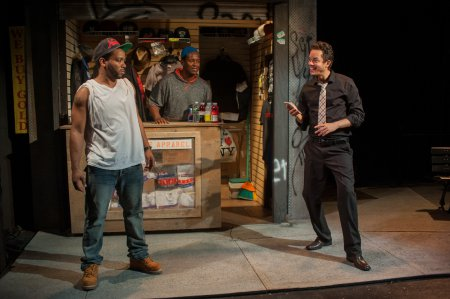 """Clinton Lowe, Nathan Hinton, and Flaco Navaja in a scene from """"The Block"""" (Photo credit: P. Kevin O'Leary)"""