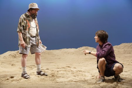 """Jonathan Hadary and Owen Campbell in a scene from """"Indian Summer""""(Photo credit: Joan Marcus)"""