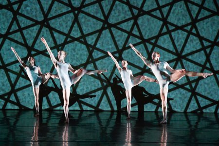 "RIOULT Dance New York in a scene from Pascal Rioult's ""Polymorphous"" (Photo credit: Eric Bandiero)"