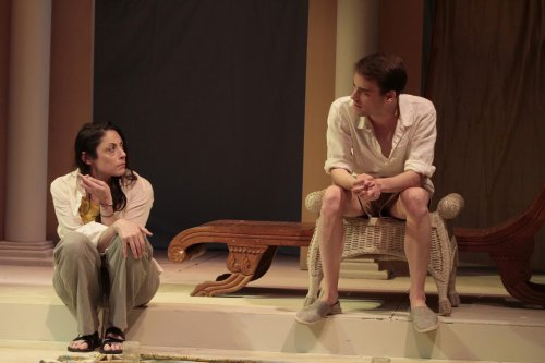 """Najla Said and P.J. Brennan in a scene from Karen Malpede's """"The Beekeeper's Daughter"""" (Photo credit: Beatrice Schiller)"""