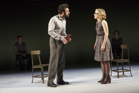 "Morgan Spector and Geneva Carr in a scene from Nick Payne's ""Incognito"" (Photo credit: Joan Marcus)"