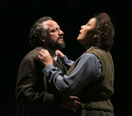 "Jesse J. Perez as Nils Krogstad and Linda Powell as Christine Linden in a scene from ""A Doll's House"" (Photo credit: Gerry Goodstein)"
