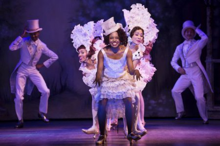 "Adrienne Warren and company perform ""I'm Just Wild About Harry"" in ""Shuffle Along…"" (Photo credit: Julieta Cervantes)"