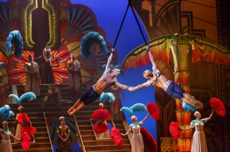 """Andrew and Kevin Atherton in a scene from Cirque du Soleil's """"Paramour"""" (Photo credit: Richard Termine)"""