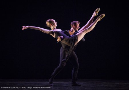 "Kaitlyn Gilliland and Matthew Dibble in ""Beethoven Opus 130"" (Photo credit: Yi-Chun Wu)"