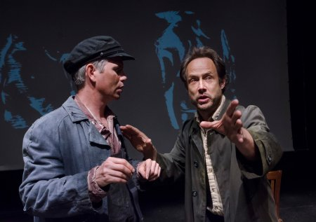 "David Barlow and Alex Draper in a scene from Howard Barker's ""No End of Blame: Scenes of Overcoming"" (photo credit: Stan Barouh)"