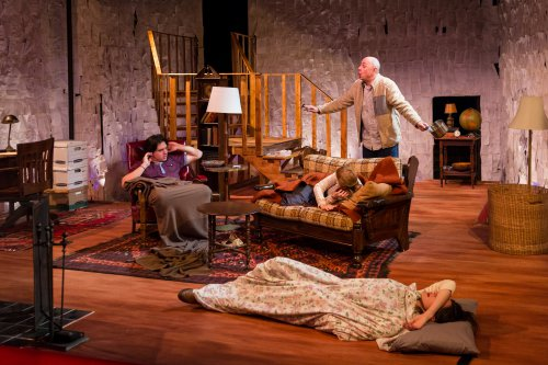 "John DiMino, Meghan E. Jones, Thomas F. Walsh and Jessica-O'Hara Baker in a scene from ""The Red Room"" (Photo credit: Michael Bernstein)"