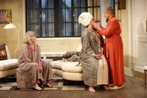"Judith Ivey, Angelina Fiordellisi and Estelle Parsons in a scene from ""Out of the Mouths of Babes"" (Photo credit: Carol Rosegg)"
