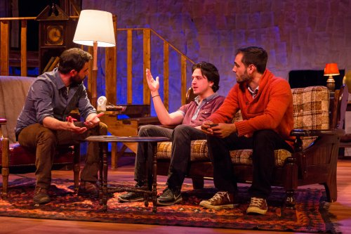 "Michael Kingsbaker, John DiMino and Rob Brinkmann in a scene from ""The Red Room"" (Photo credit: Michael Bernstein)"