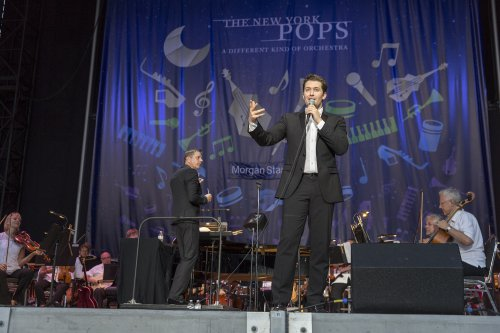 Matthew Morrison with conductor Steve Reineke and The New York Pops (Photo credit: Richard Termine)