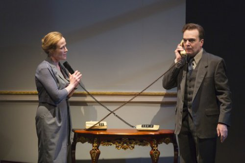 "Jennifer Ehle and Jefferson Mays in a scene from ""Oslo"" (Photo credit: T. Charles Erickson)"