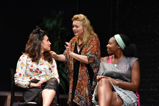 "Miranda Roldán, Kristen Vaughan and Nichollette Shorts in  a scene from ""Phoenix Rising: Girls and the Secrets We Keep"" (Photo credit: Jana Marcus)"