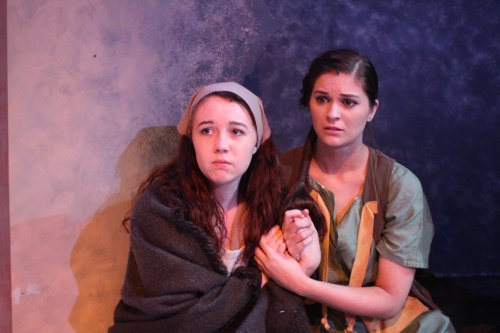 """Rylee Doiron and Lynnsey Lewis in a scene from """"Crashlight"""" (Photo credit: Taylor Wobble)"""