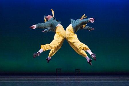 "Alex Harrison and Logan Learned in a scene from ""Tweedledum and Tweedledee"" (Photo credit: Yi-Chun Wu)"