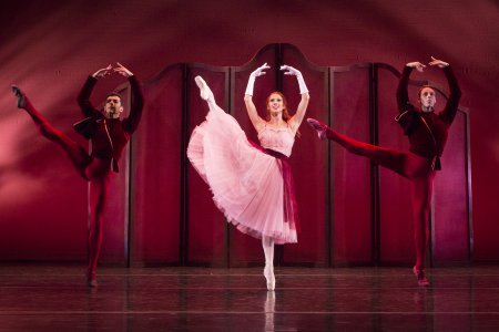 "Ricardo Graziano, Danielle Brown and Jamie Carter in a scene from ""Valse Noble et Sentimentales"" (Photo credit: Yi-Chun Wu)"