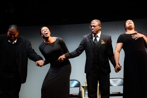 """Christian Lee Branch, Lauren Shaye, Marquis Gibson and Nicole Stacie in a scene from """"Mother Emanuel (Photo credit: Michela Rynczak)"""
