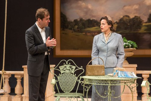 """Julian Elfer and Katie Firth in a scene from """"A Day by the Sea"""" (Photo credit: Richard Termine)"""