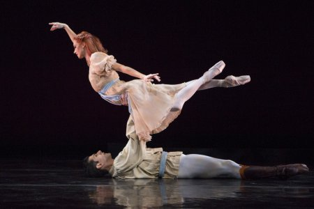"Danielle Brown and Ricardo Graziano in a scene from ""A Walk to the Paradise Gardens"" (Photo credit: Yi-Chun Wu)"