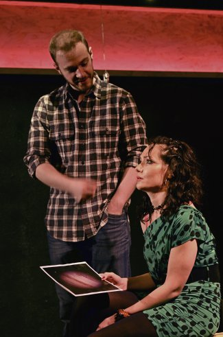 "Pete McElligott and Katrina Lenk in a scene from ""Touch"" (Photo credit: Nikhil Saboo)"