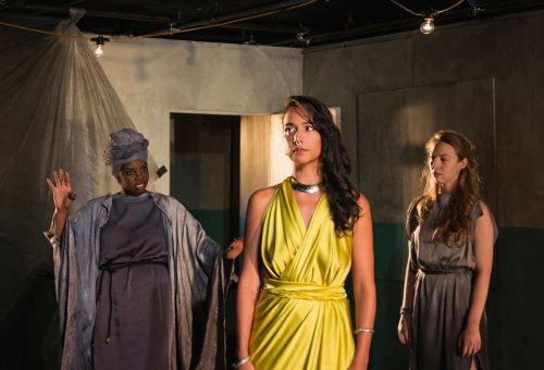 "DeAnna Supplee, Rebeca Rad and Clea DeCrane in a scene from ""The Trojan Women"" (Photo credit: Allison Stock)"