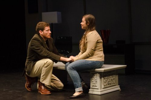 "Sawyer Spielberg and Meghan St. Thomas in a scene from ""Safe"" (Photo credit: Jenny Sharp)"